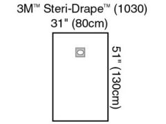 "3M™ STERI-DRAPE™ OPHTHALMIC SURGICAL DRAPES Medium Drape with Adhesive Aperture, 31"" x 51"", 10/bx, 4 bx/cs (US Only)"