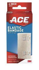 "3 M™ Ace™ Brand Elastic Bandages 4"" Elastic Bandage with Clip, 72/cs (US Only)"